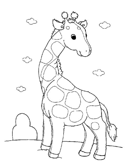 preschool baby animals coloring pages free printable giraffe coloring pages for kids