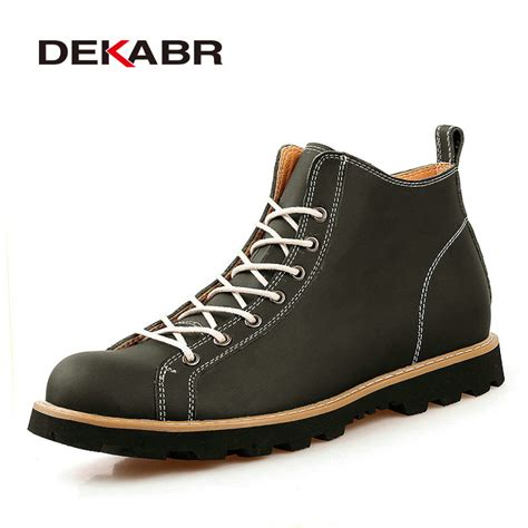 comfortable mens boots dekabr new fashion mens leather shoes waterproof boots