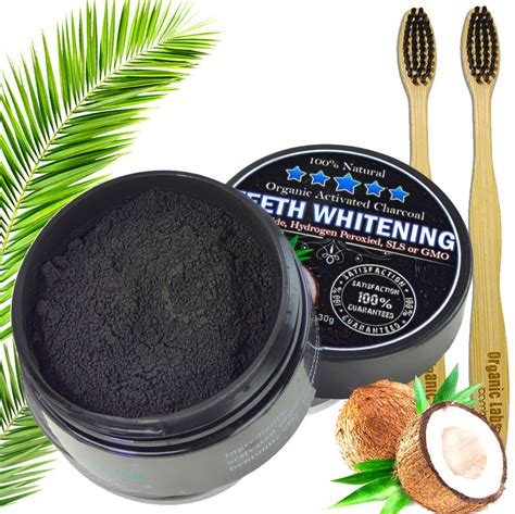 charcoal teeth whitening powder natural activated