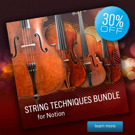 String Techniques - notion add on discount 30 string techniques bundle