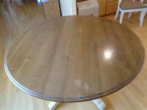 ethan allen  wood country kitchen dining table