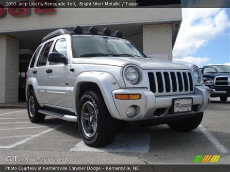 jeep liberty silver inside bright silver metallic 2003 jeep liberty renegade 4x4