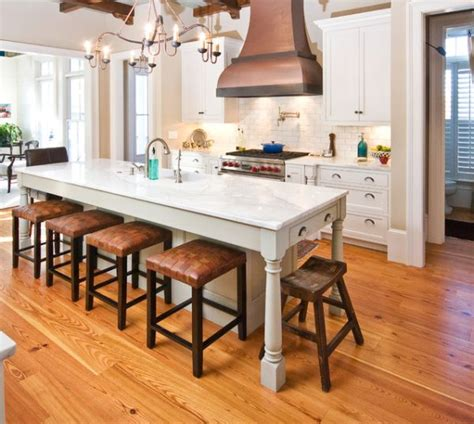 narrow kitchen island with seating at end 30 kitchen islands with tables a simple but clever combo