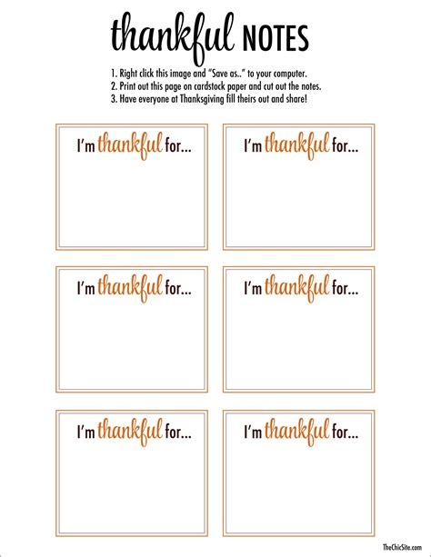 Turkey Thankful Card Template Free by Thankful Printable The Chic Site