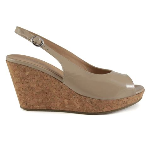 beige wedge sandal buy vanilla moon beige patent wedge sandal