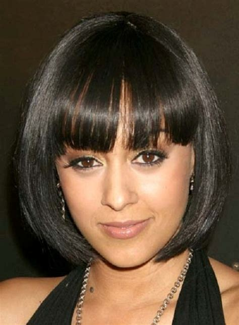 hairstyles with bangs african american easy african american short hairstyles circletrest