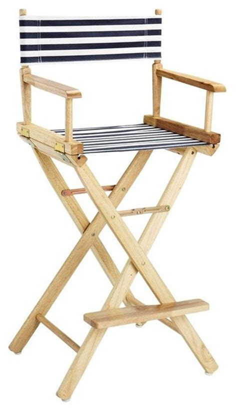 Director Chair Bar Stools director s chair striped canvas seat and back
