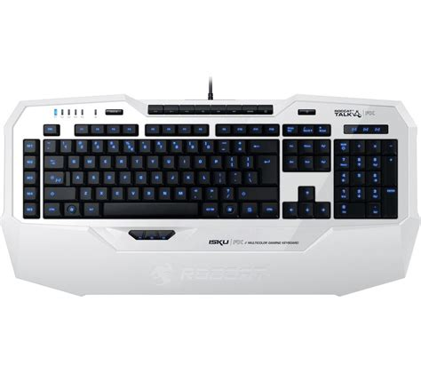 Keyboard Gamer roccat isku fx gaming keyboard white deals pc world