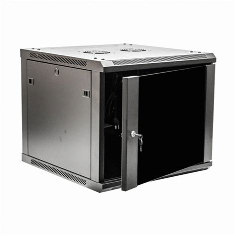 9u wall mount network server data cabinet 24 inch depth