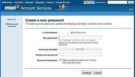 windows live reset password secret question how to recover msn password at live com password reset