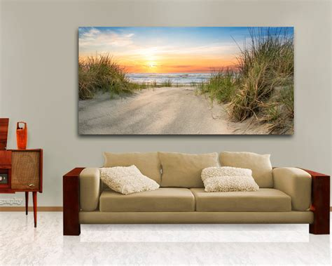 art above sofa large ocean beach wall decor above the couch hanging art