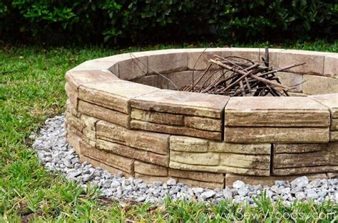 Building An Outdoor Firepit How To Build Outdoor Pit Diy Pinterest