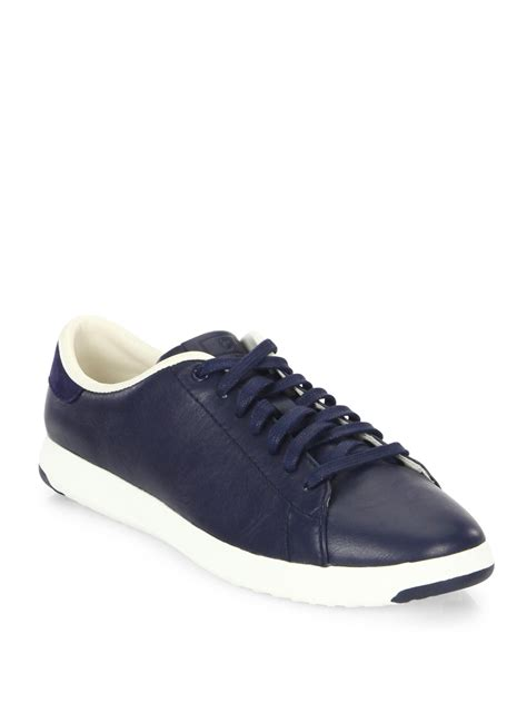 Braided Bottega Veneta Type Casing Iphone Grand Note New cole haan grandpro leather tennis sneakers in blue for lyst