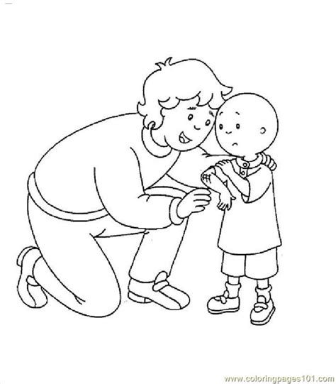 coloring pages caillou005 cartoons gt caillou free
