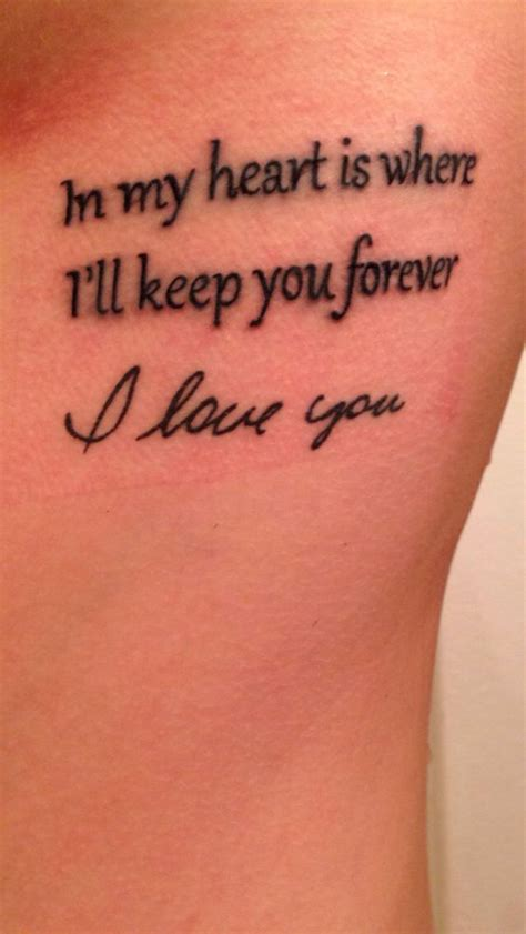 tattoo forever lyrics tattoo of godmother s handwriting with the words quot in my