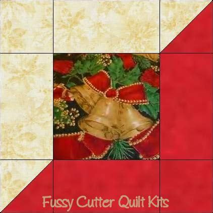 Fussy Cutter Quilt Kits by Easy Quilt Block Pattern Ornament Fabric