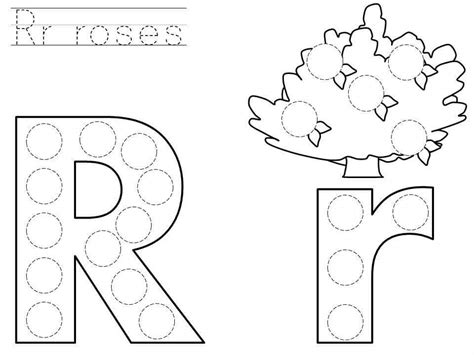 printable pictures with letter r do a dot letter r printable 171 funnycrafts