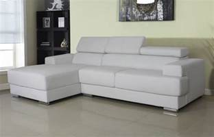 Gray And White Sofa Modern Bonded Leather Sectional Sofa Set Gray And White