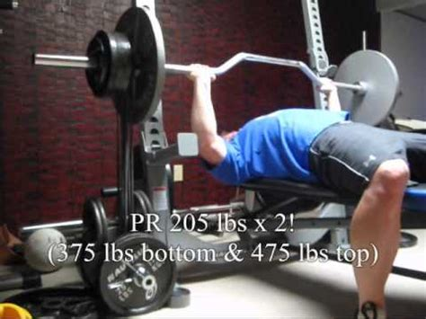 monster bench press 240 lb quaded monster mini s cambered bar bench press at