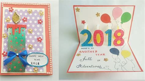 diy new year pop up card diy new year card 2018 greeting card for new year