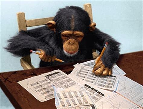 monkey writing paper a tiny revolution nobel time for bonzo