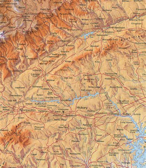 map carolina mountains carolina mountains map hickory carolina
