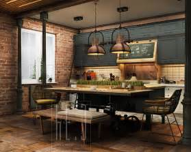 Home Designing Com industrial kitchen decor interior design ideas