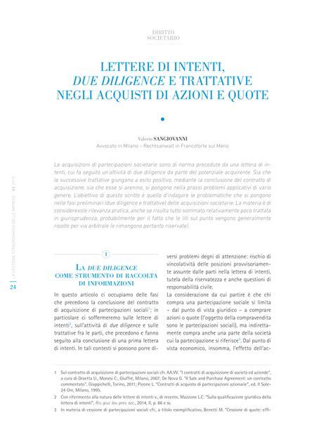 lettere di intenti pdf lettera di intenti due diligence e trattative negli