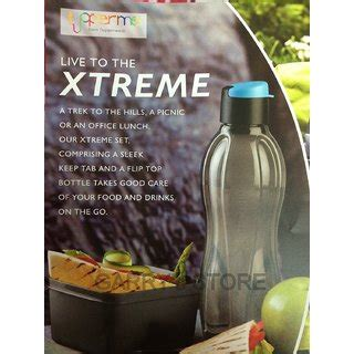 Xtreme Bottle Tupperware tupperware xtreme set 750ml flip top bottle 500ml keep tab small