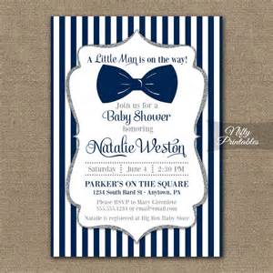 bow tie baby shower bow tie baby shower invitations printable navy blue silver