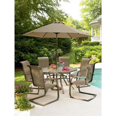 Sears Patio Table Sets Garden Oasis Grandview 7 Pc Dining Set Shop Your Way Shopping Earn Points On Tools