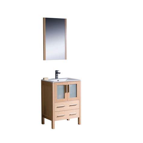 Oak Vanity Light Fresca Torino 24 In Vanity In Light Oak With Ceramic Vanity Top In White With White Basin And