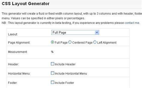css layout generator free download css layout generator css portal download pdf