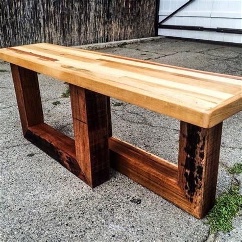 diy chic pallet entryway bench  beefy legs wooden