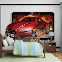car flames wall mural for your home buy at abposters com racing car boys wall mural