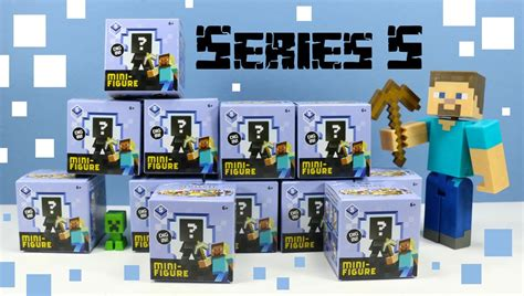 Pajangan Figure Minecraft Mini Figur Minifigures Seri 3 minecraft mini figure series 5 mystery boxes collection review codes