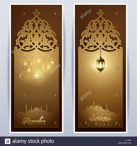 islamic vector design eid mubarak greeting template roll