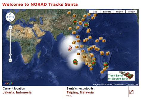 tracking santa on norad the 2010 santa tracker review from norad to earth