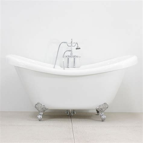 double slipper bathtub hlds59fpk 59 quot hotel collection double slipper clawfoot tub