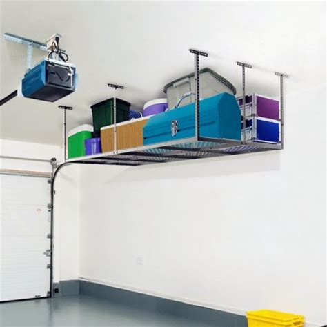 Garage Shelving Height Fleximounts 4x8 Heavy Duty Overhead Garage Adjustable