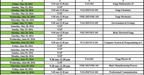 Wmu Mba Tentative Schedule by Aktu Uptu Even Sem Schedule 2015 16 Update On 19 May