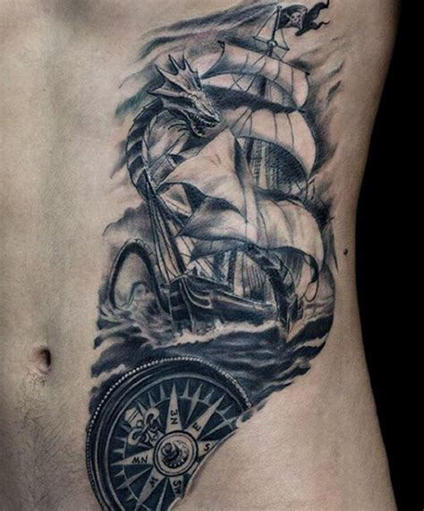 tattoo pinterest guys rib cage side small ship tattoo for guys tattoos good