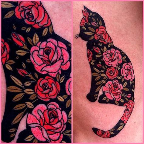 pattern cat tattoo i would so get this for my dad modifiedmuggles