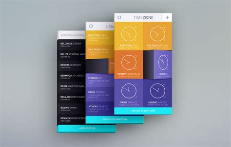 mobile themes psd free download time zone mobile app ui kit free psd download download psd
