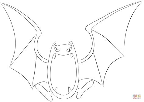 pokemon zubat coloring pages golbat coloring page free printable coloring pages