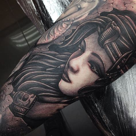 egyptian princess tattoo sleeve by craig holmes by