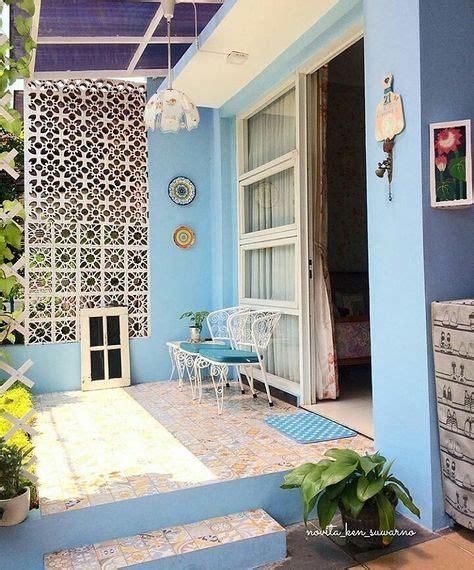 model keramik teras rumah minimalis  warna cat teras