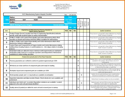 list template excel free 5 excel checklist template itinerary template sle