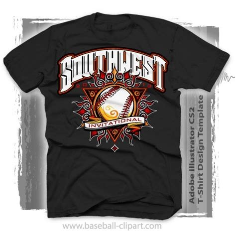 Sun Baseball Shirt Design Template In Easy To Edit Vector Format Baseball T Shirt Design Templates