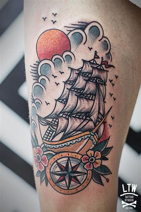 traditional nautical tattoos school ship sailor school